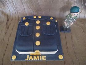 Royal Marine with Keepsake Topper for Farewell Party